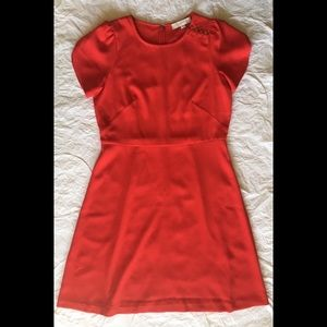 Loft Outlet Shoulder Button Flare Dress, size 6